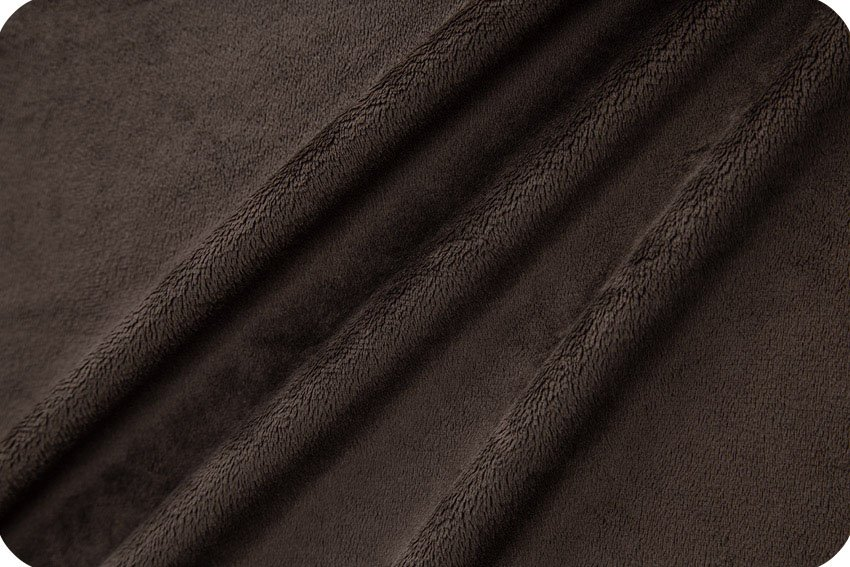 Shannon Fabrics Solid Cuddle 3 Chocolate C3-CHOCOLATE '