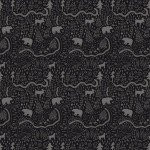 riley Blake Designs Wild At Heart C9822R-Black  Map Black