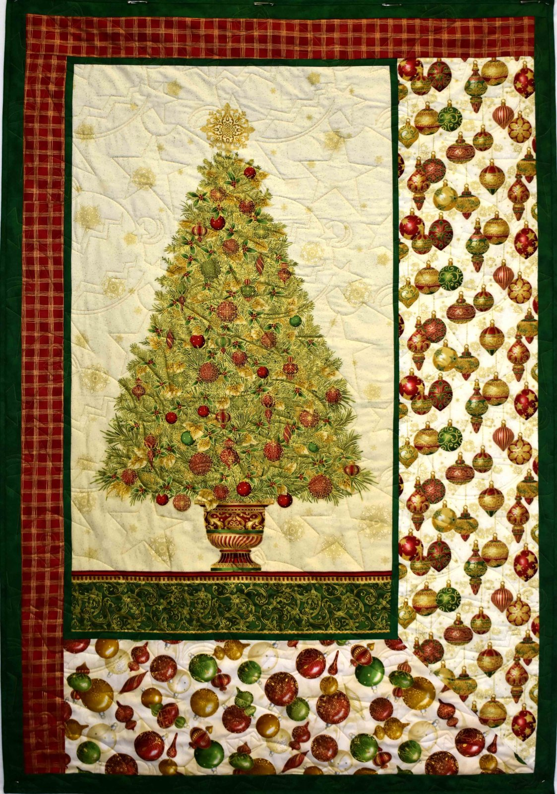 Gold Christmas Tree Quilt/ Wall Hanging
