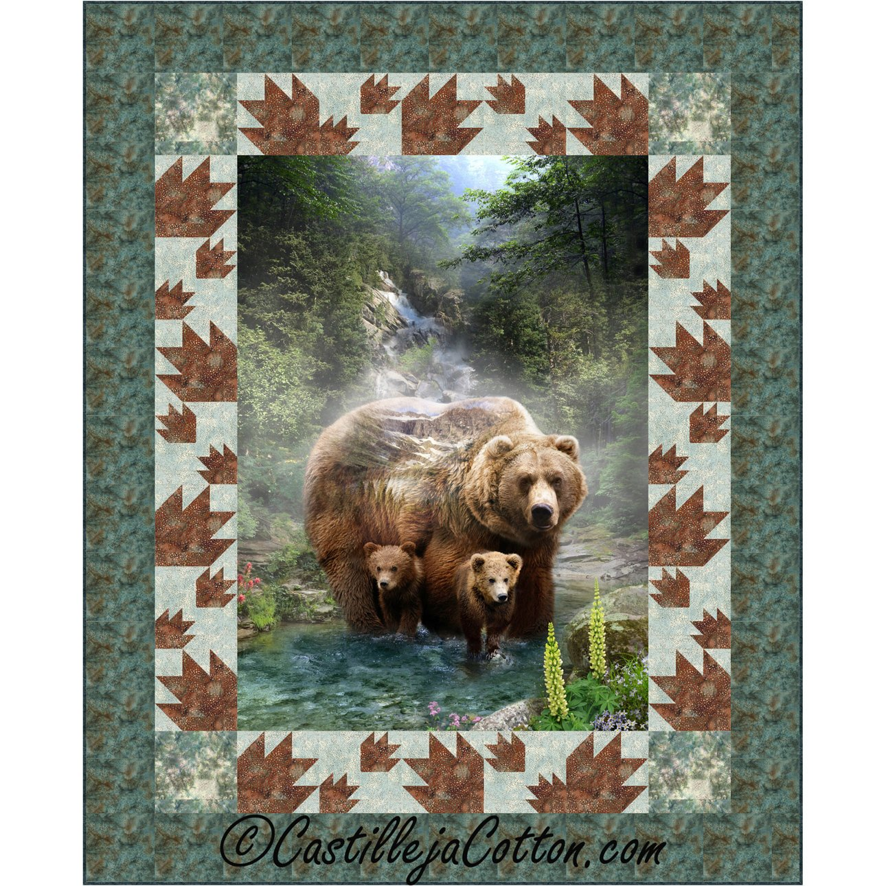 Bears and Paws Panel Pattern  ~
