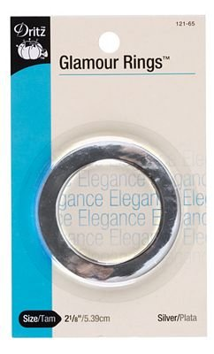 Dritz Glamour Ring - 2inch Silver`