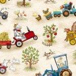 Shannon Fabrics Funny Farm Digital Cuddle DCFUNNYFARMBEIGE