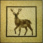 Forest Abstractions Deer Quilt ...