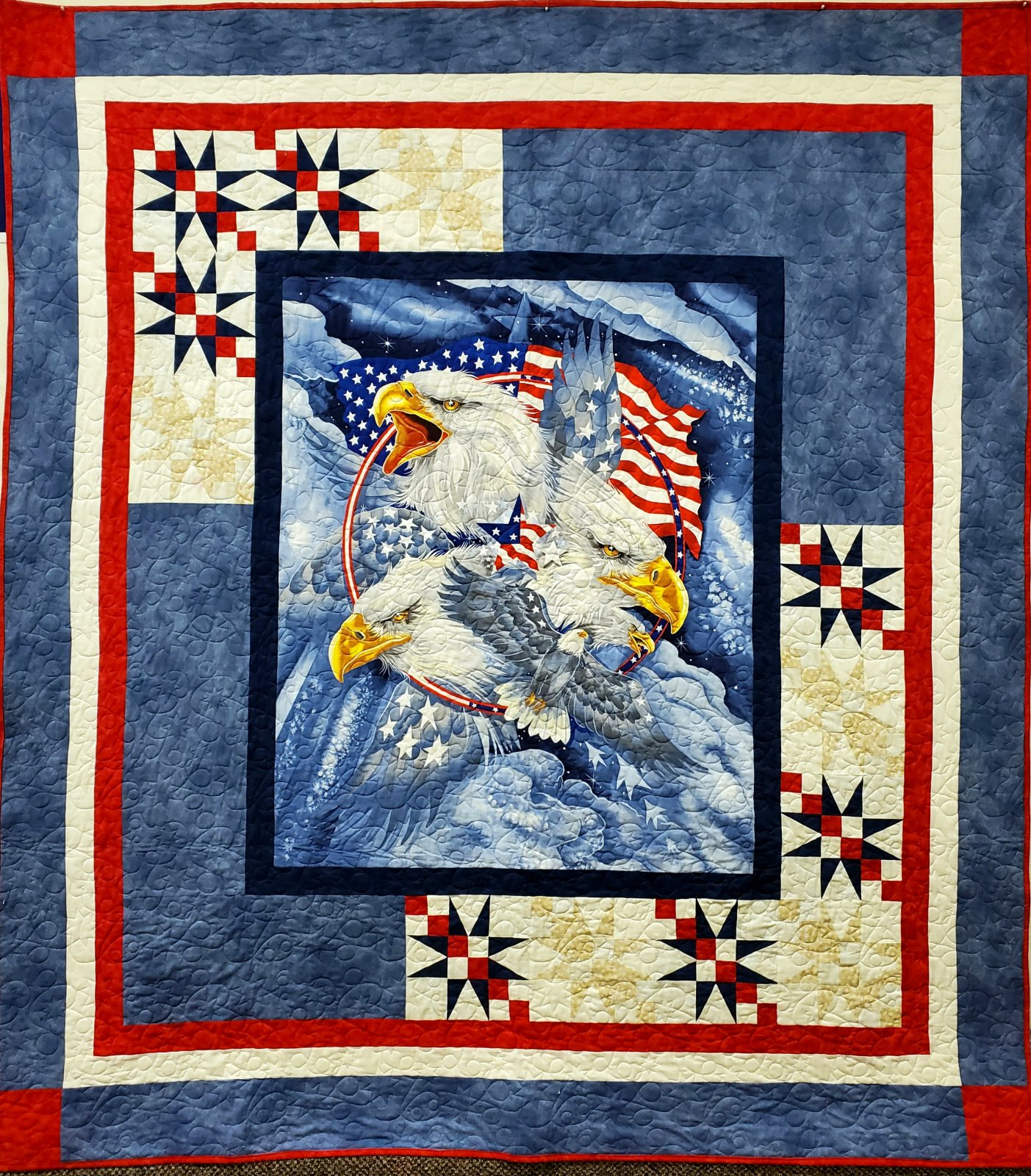 Military Eagle Panel Tribute Quilting Kit 8703-X Sykel