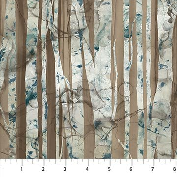 Whispering Pines Mountain Landscape Birch Trees Brown DP23754-36