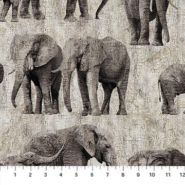 Northcott New Dawn Elephant Grey DP23923-94 PRE-ORDER