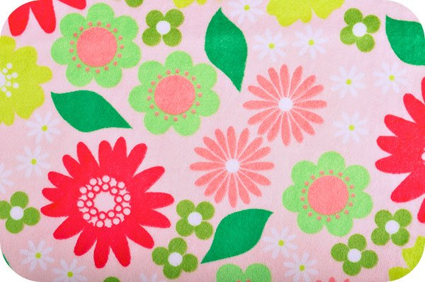Izzy Flower Cuddle Melon Minky >