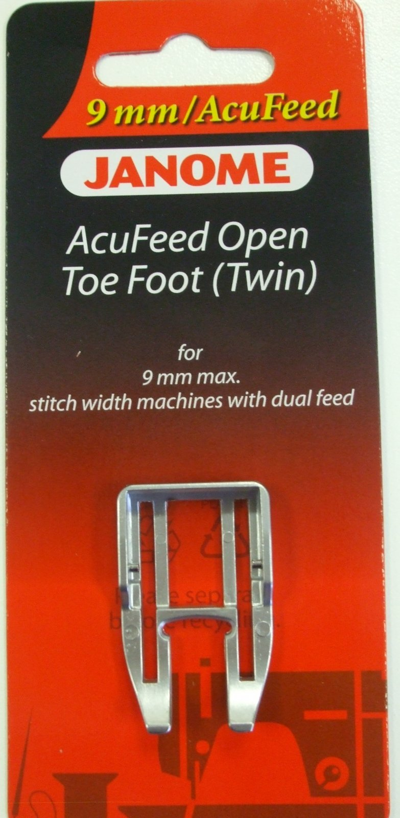 Acufeed Open Toe Foot (Twin) 9mm walking foot`