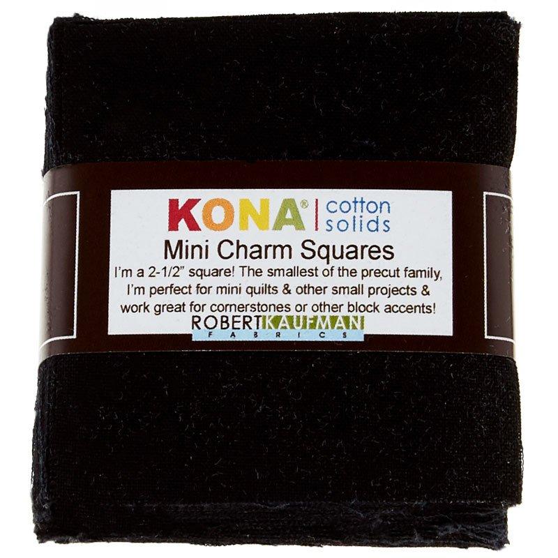 Kona Mini Charm Squares Black `