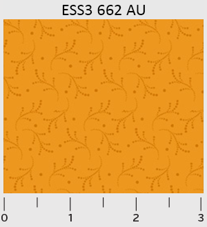 Bear Essentials 3 Orange Dotted Vines EES3662AU P&B Textiles '