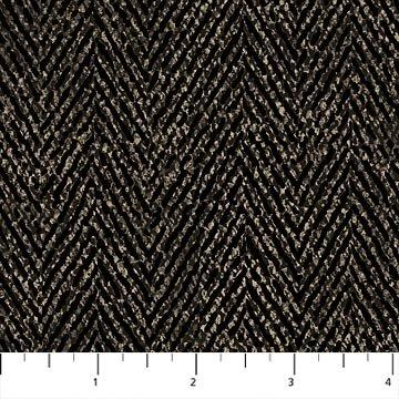 Northcott Haberdashery Flannel F21214-99 Black `