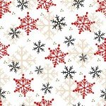 Henry Glass Timber Gnomes Multi Snowflake Flannel F9268-89