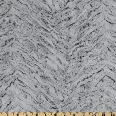 Shannon Fabrics Minky Luxe Cuddle Frosted Zebra Grey `