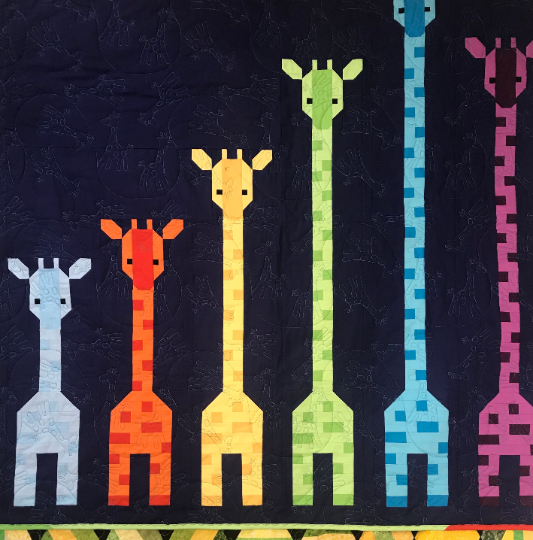 Giraffes In a Row Quilt/Wall Hanging