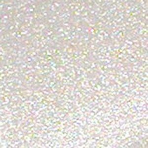 Heat Transfer Vinyl Glitter Flake Rainbow White 12 x 20..