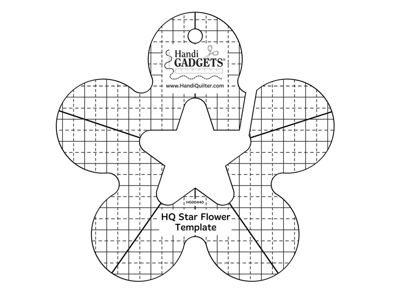 HG00440 HQ Star Flower Template `