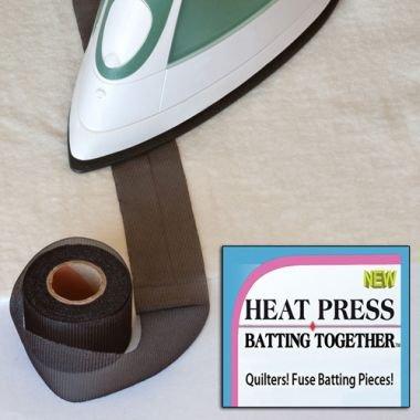 Heat Press Batting Together Black 10yds x 1.5 `