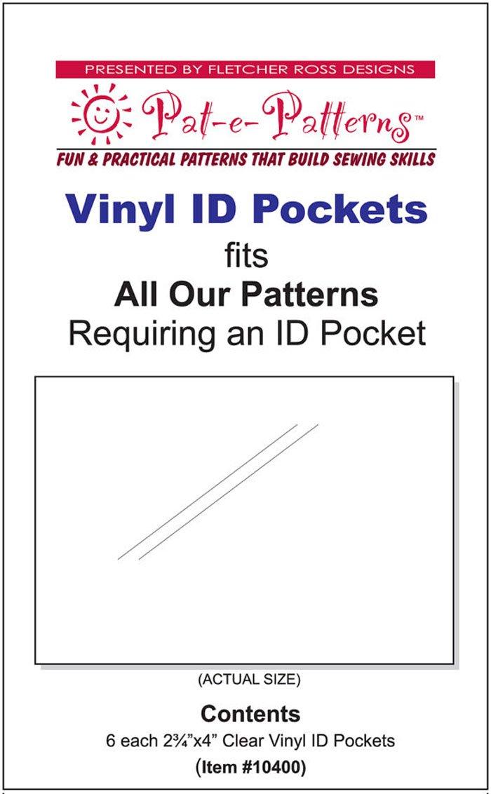Clear Vinyl ID Pockets`