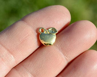 Gold Apple Charm with Lobster Claw `