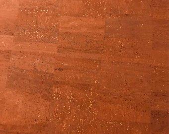 Cork Fabric Copper Half Yard Sheet `