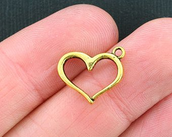Heart Outline Charm with Lobster Claw `