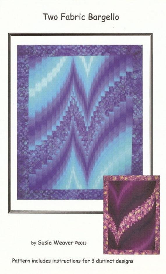 Two Fabric Bargello Pattern `