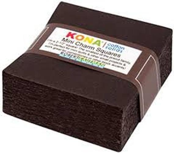 Kona Mini Charm Squares espresso `