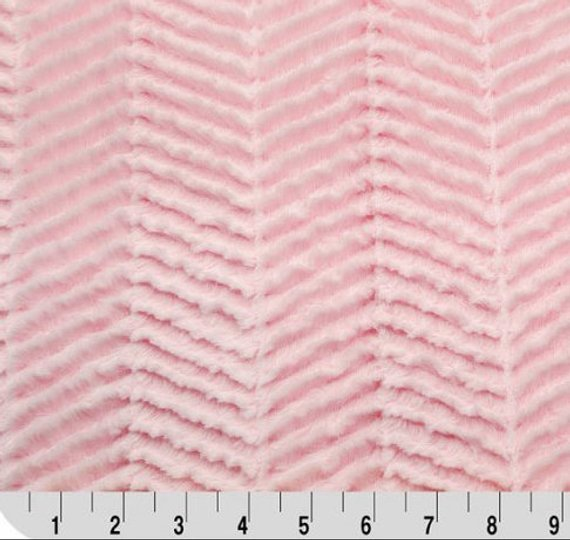 Shannon Fabrics Minky Luxe Cuddle Ziggy- Baby Pink `