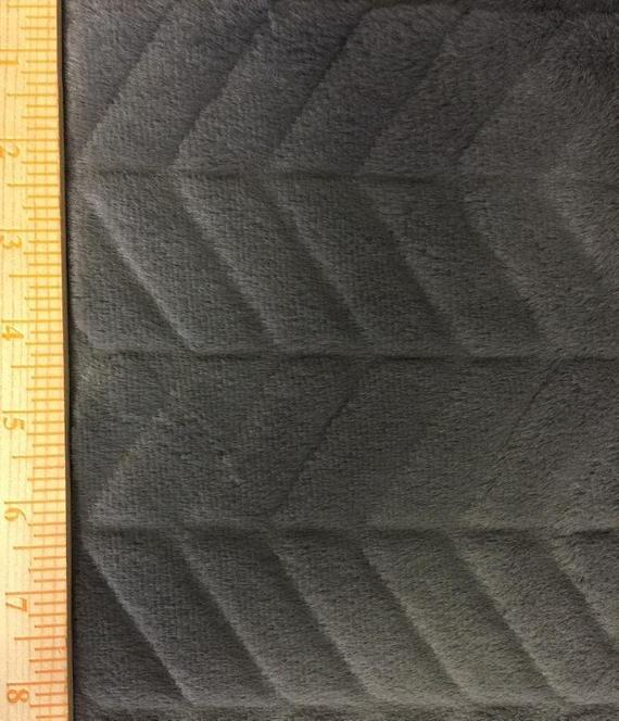 Michael Miller Minky Herringbone Snuggle in Charcoal `