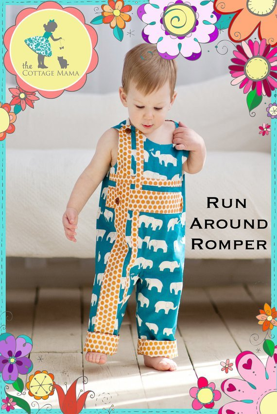 Run Around Romper Kid Pattern COM4048