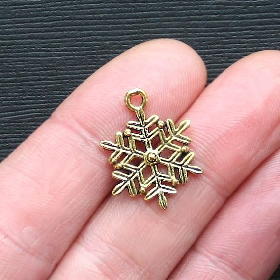 Snowflake Charm with Lobster Claw `