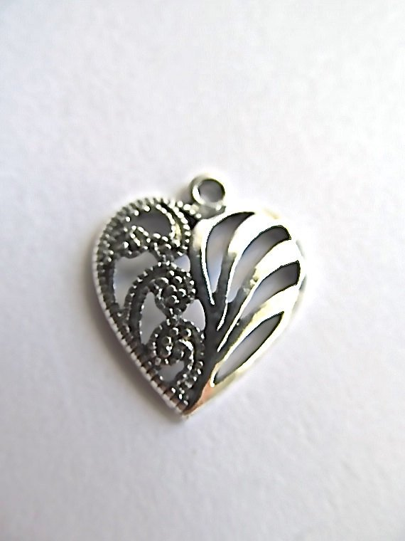 Heart  Charm with Lobster Claw `