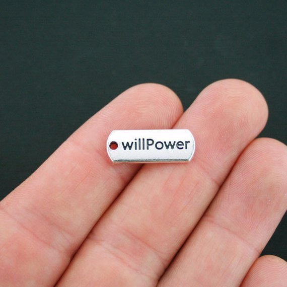 Willpower Charm with Lobster Claw -Silvertone=