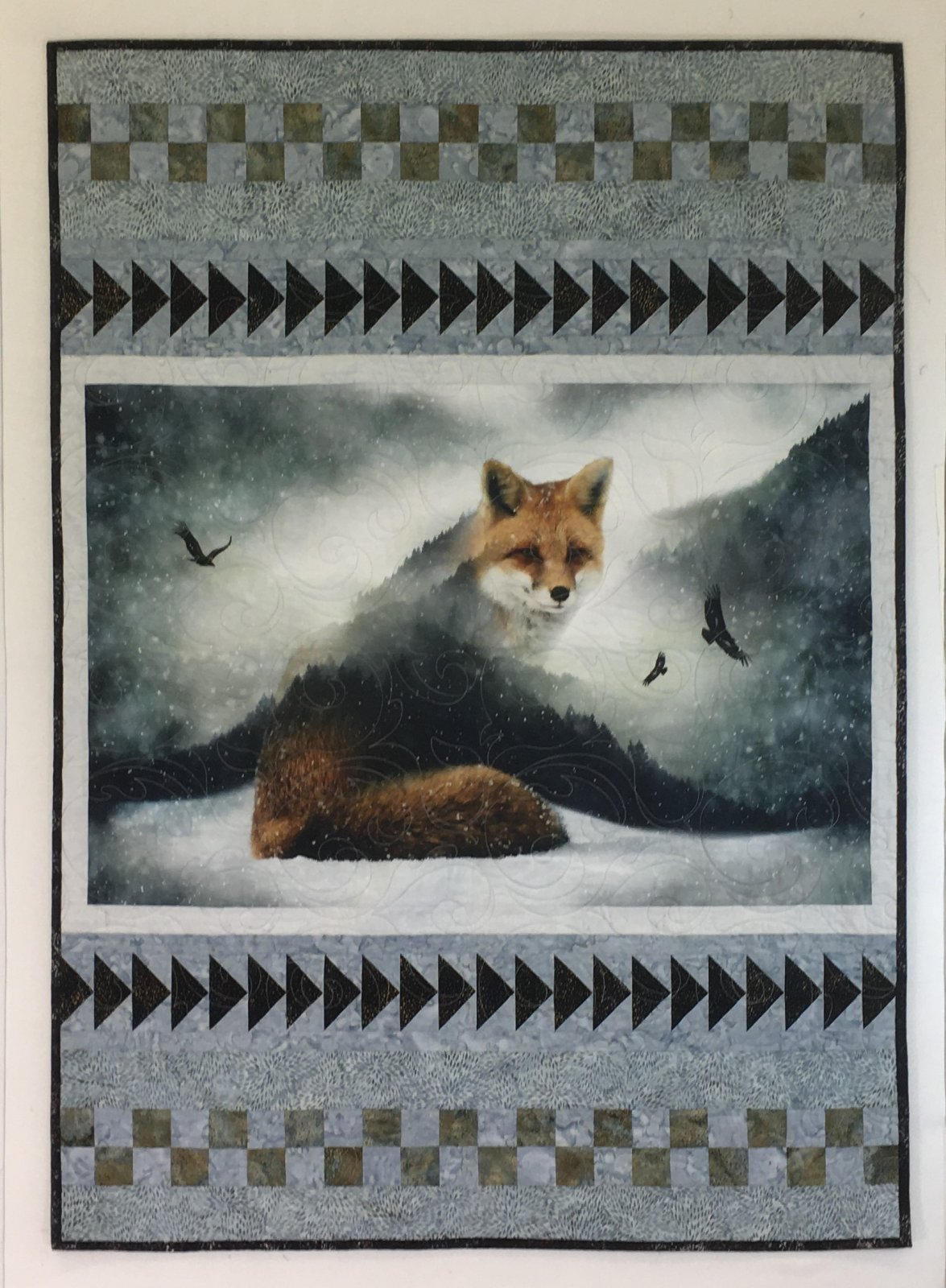 The Call of The Wild WInter Fox Quilt