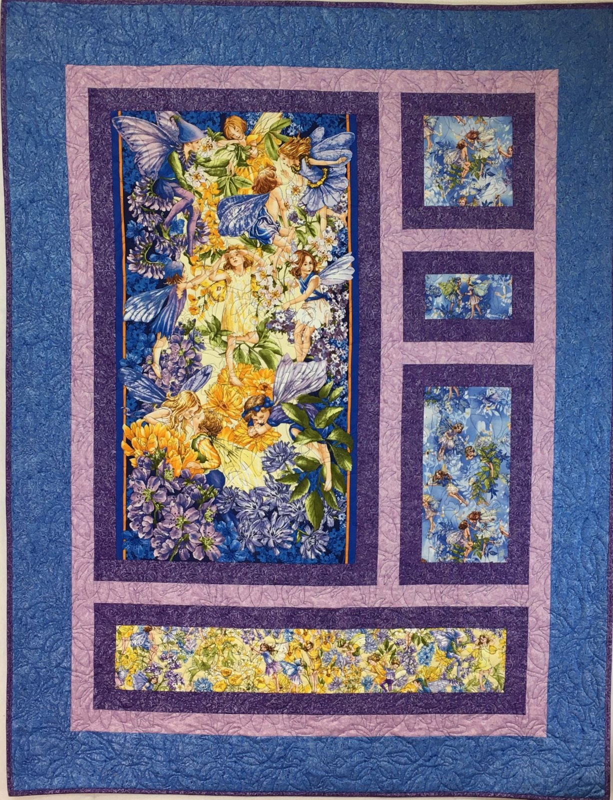 From Dawn to Dusk Fairies Handmade Quilt