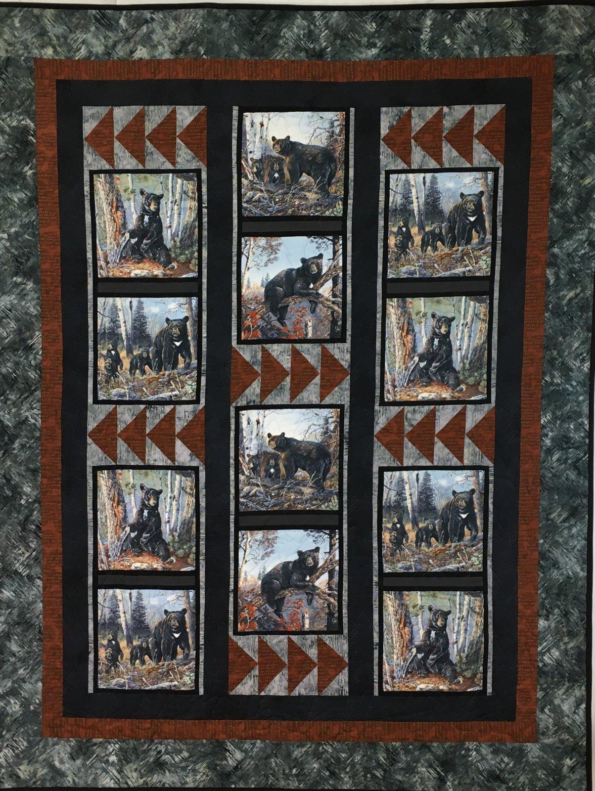 Black Bear Quilt Handmade