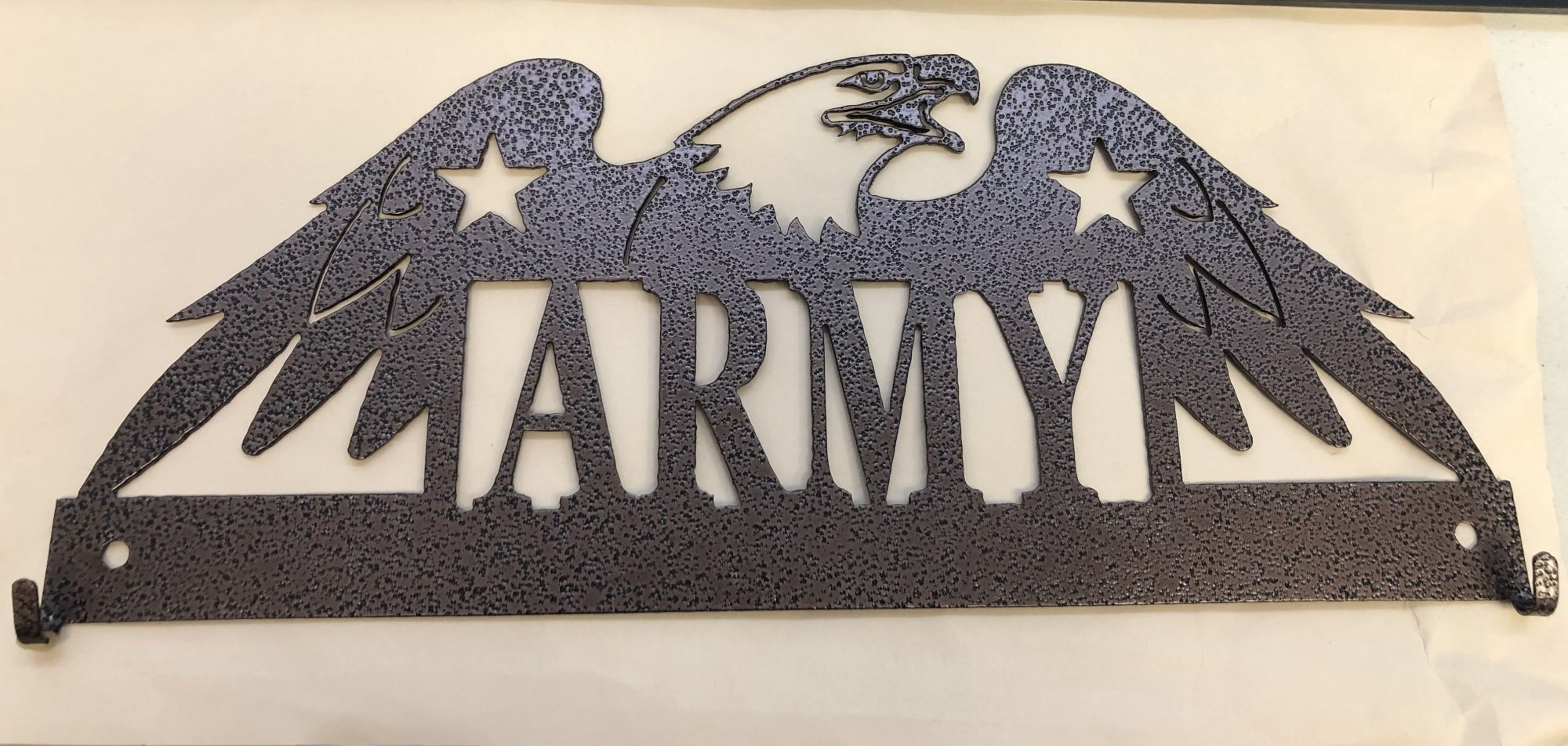 Ackfeld Army 12in Fabric Holder