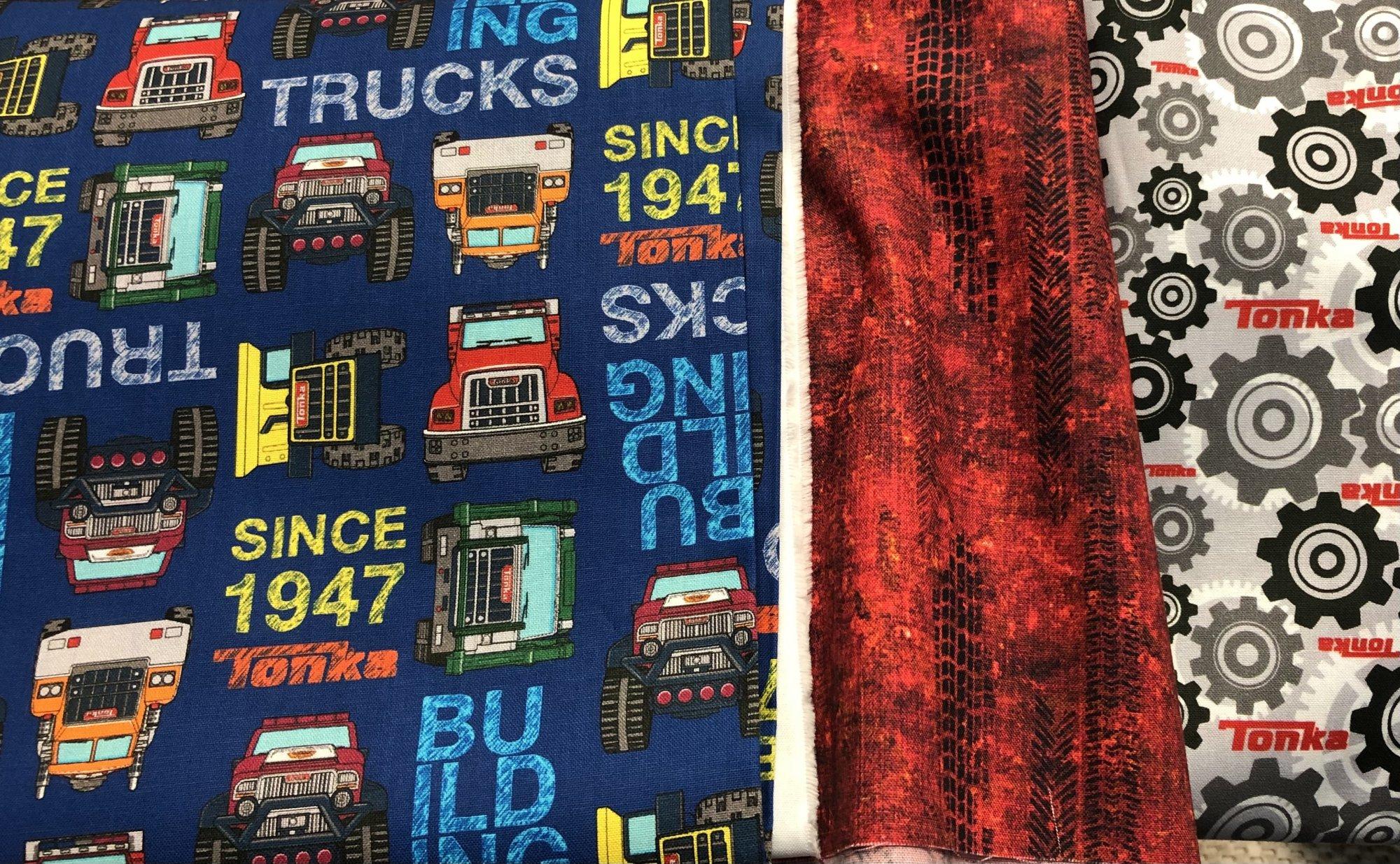 FB W 16 Tonka Trucks 3 Yard Quilt Kit