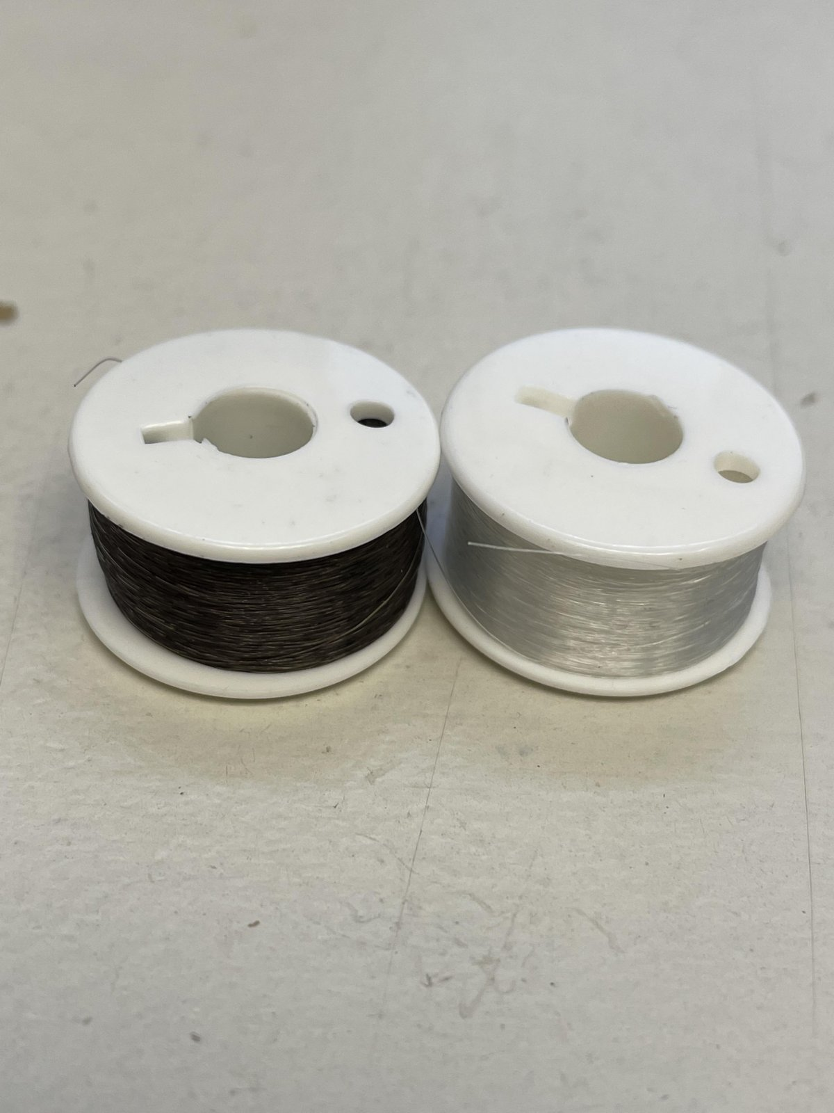 Superior Threads Mono Poly Combo Class 15 Pre-Wound Bobbins (1 Smoke & 1 Clear)