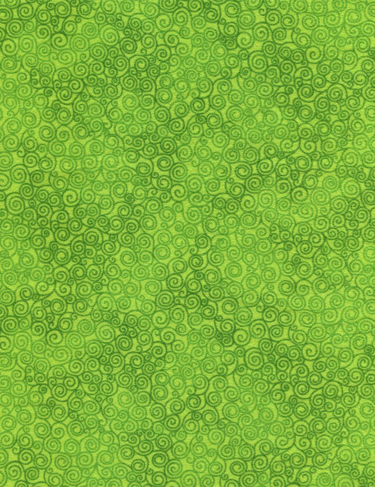Timeless Treasures Jazz Flannel JAZZ-CF2664-Spring Green Swirls `