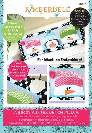 Whimsy Winter Bench Pillow CD `