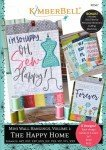 Kimberbell KD567Mini Wall Hangings Volume 1 The Happy Home Machine Embroidery CD Software
