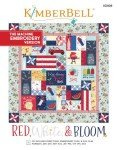 Kimberbell Red White & Bloom Machine Embroidery Version Book KD809