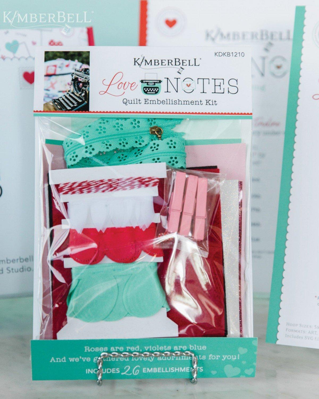 Kimberbell Love Notes Embellishment Kit KDKB1210 Pre-order