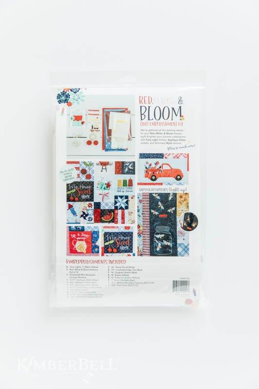 Kimberbell Red White & Bloom Embellish Kit KDKB1242