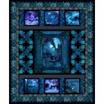 Dragons Blue Fury Quilt Kit from In The Beginning Fabrics 76x92 Quilt Kit in Blue