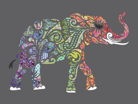 All Star Elephant Fusible Applique Laser Cut Quilting Kit  ` `