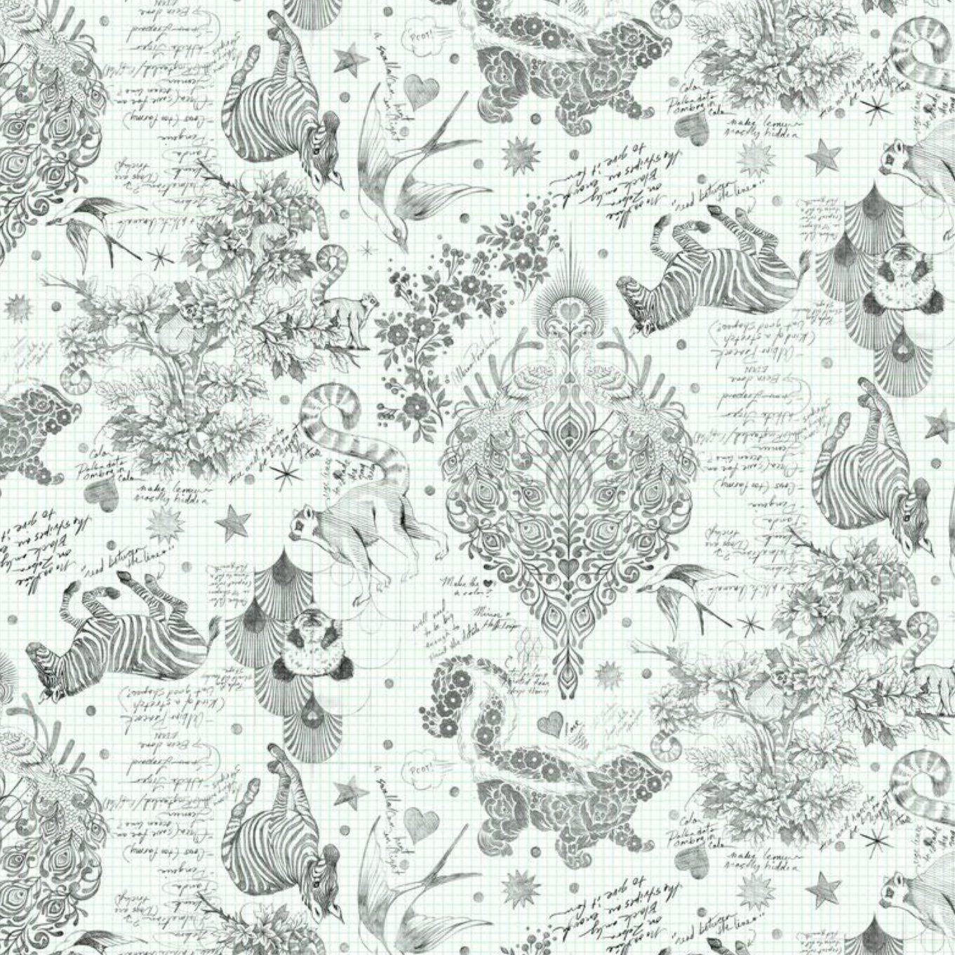 Tula Pink Linework PWTP158.Paper Sketchy Free Spirit