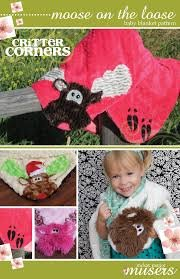 Moose on the Loose Baby Blanket `