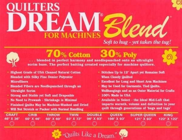 Quilters Dream 70/30 Blend Queen 93 x 30Yd Roll
